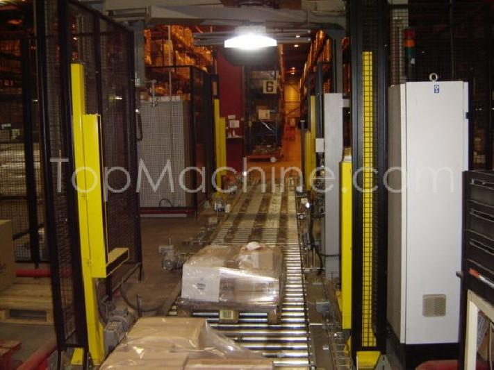 Used Robopac HS40 Beverages & Liquids Palletizer & Pallet wrapper