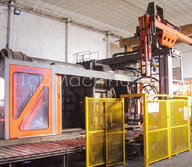 Used Italtech MSK 5500 / 2x28800 Injection Moulding Clamping force 1000 T +