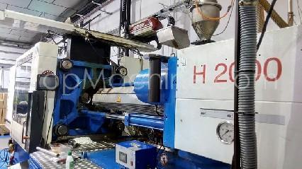Used Billion H2000/320T Injection Moulding Clamping force up to 1000 T