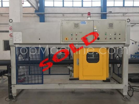 Used Plasco MP 85H 32D Extrusion PE/PP pipe line