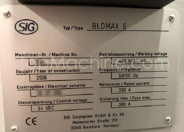 Used Blomax 6 Serie IIIC Bottles, PET Preforms & Closures PET Stretch Blow Molding