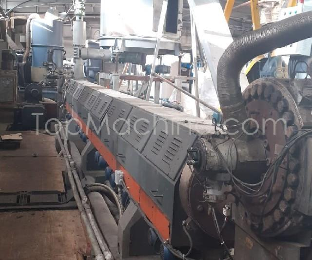 Used Tecnova 160 54D Recycling Repelletizing line