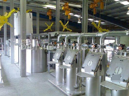 Used AZO Batching system Compounding Mixers