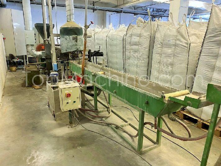 Used Tecnova 80 35LD Recycling Repelletizing line
